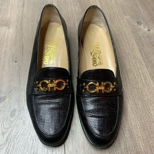 SALVATORE FERRAGAMO | Black Leather  Loafers